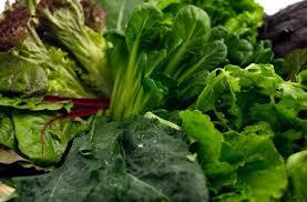 Calcium et légumes verts