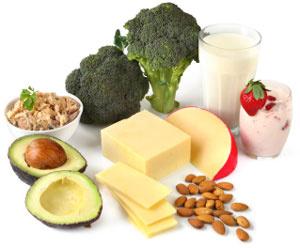 calcium et aliments crus